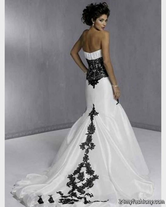 Ivory wedding dresses 2017 junoir bridesmaid dresses for Unique black and white wedding dresses