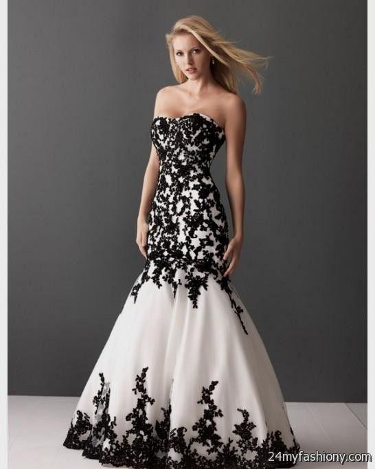 Ivory And Black Lace Wedding Dress Looks