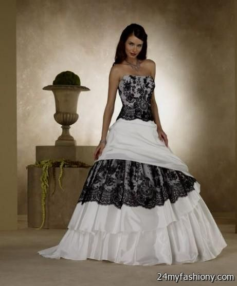 Wedding Dresses Black And Ivory 85