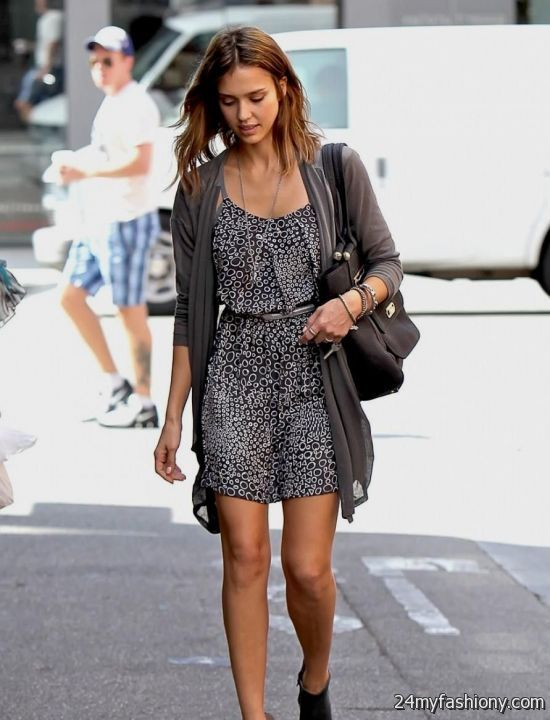Jessica Alba casual dresses 2017-2018 | B2B Fashion