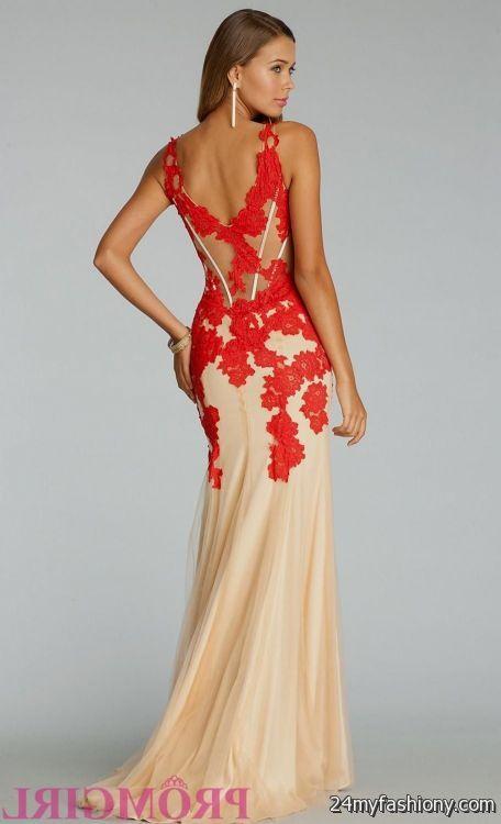 Jovani Red Lace Prom Dress Looks B2b Fashion