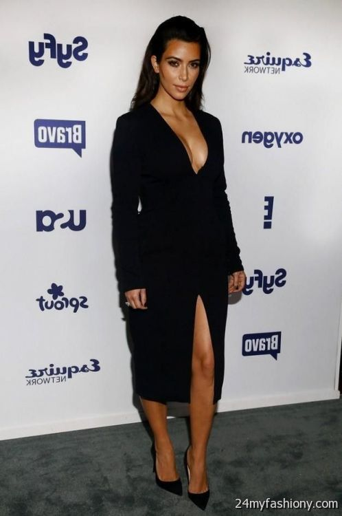 Kim k black dress 3oh3