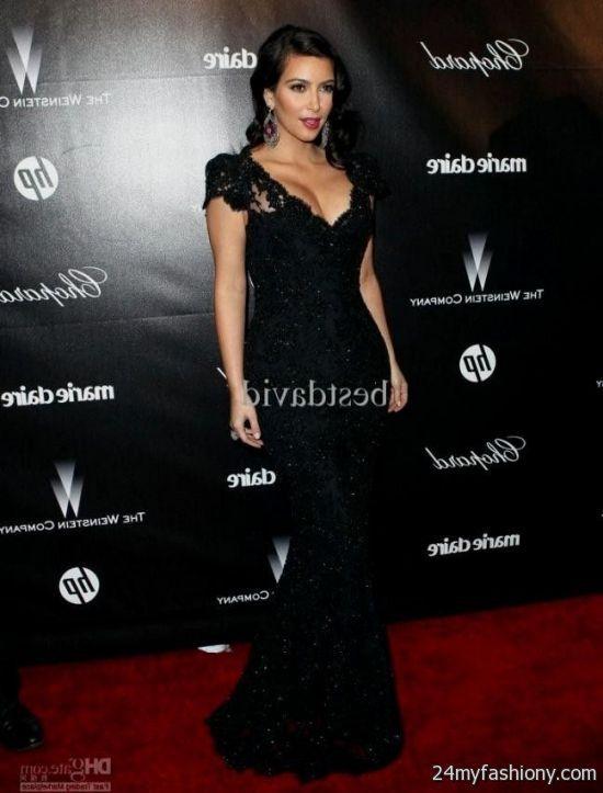 Kim Kardashian Black Lace Dress Looks B2b Fashion