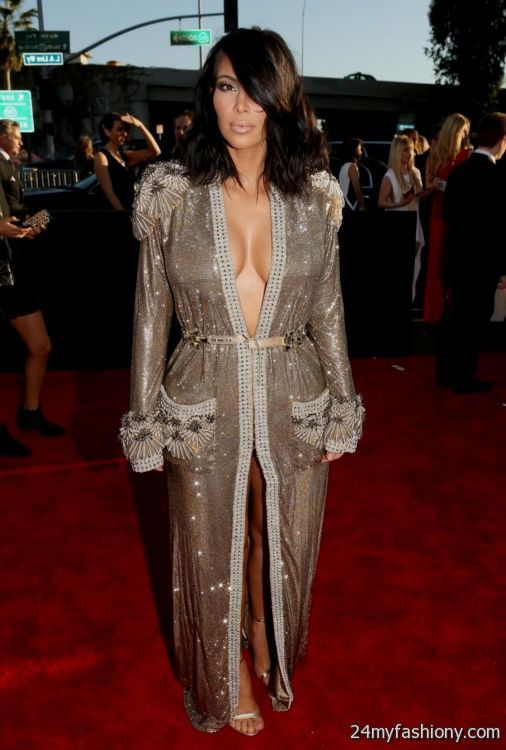 Kim Kardashian Metallic Halter White Chiffon Evening Prom ...  |Kim Kardashian Red Carpet Dresses