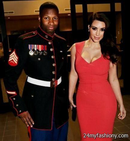 Kim Kardashian Red Dress Marine 2016 2017 B2b Fashion