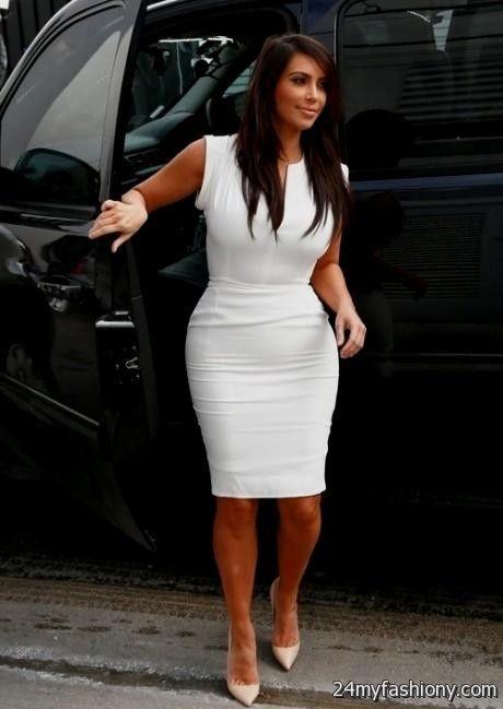 Kim Kardashian White Dresses 2017 2018 B2b Fashion