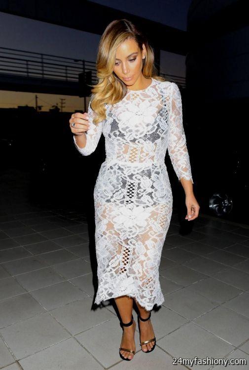 Kim Kardashian White Lace Dress - Missy Dress