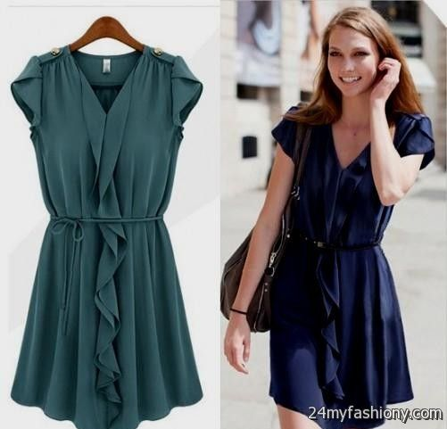 Knee Length Dresses With Sleeves Casual - Missy Dress
