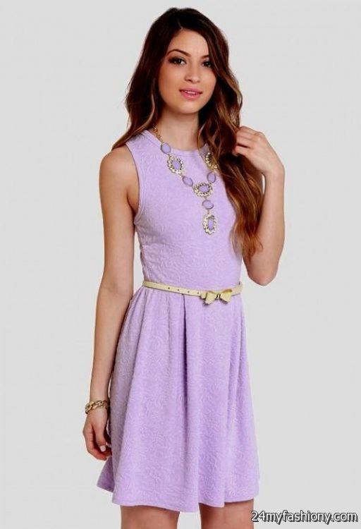 lavender casual dress 2016-2017 » B2B Fashion