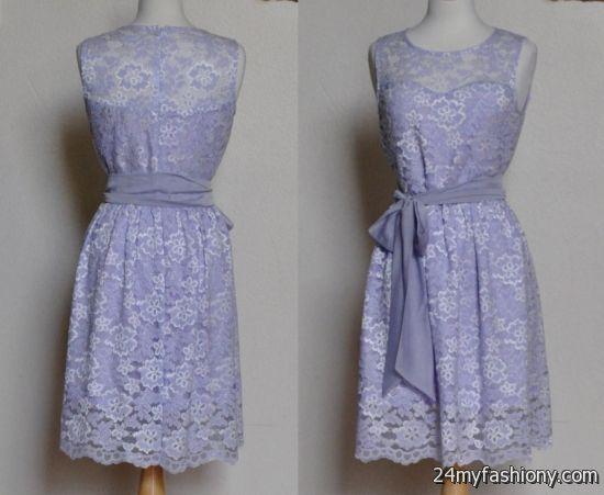 Girls lavender lace dress