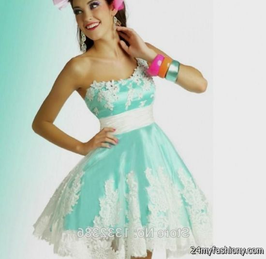 Light Blue And White Prom Dresses - Missy Dress