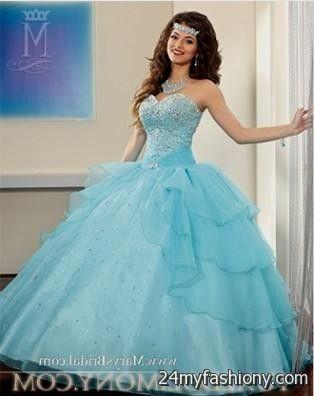 light blue and white sweet 16 dresses looks | B2B Fashion