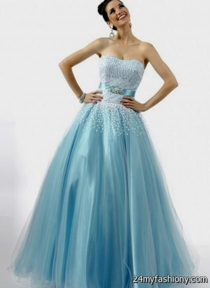 Light Blue Ball Gown Looks B2b Fashion