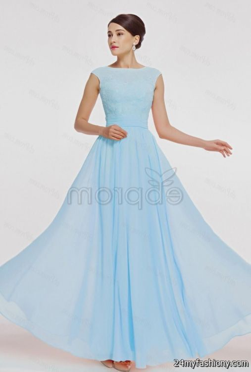 Light Blue Bridesmaid Dress