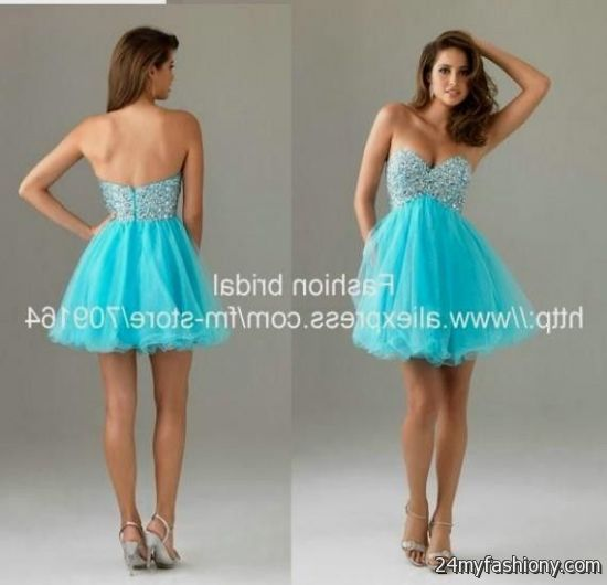 Baby Blue Cocktail Dresses - Ocodea.com