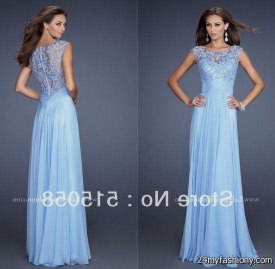 light blue lace prom dress 20162017 b2b fashion