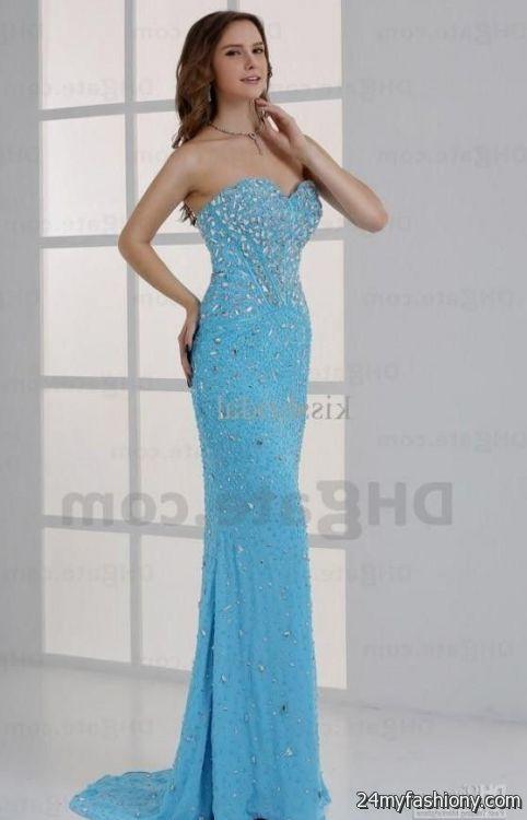 light blue lace prom dresses 20162017 b2b fashion