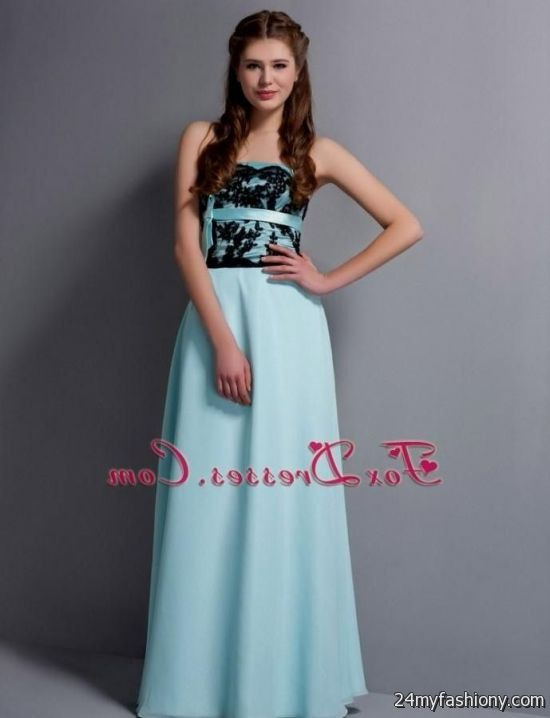 light blue lace strapless dress 2016-2017 | B2B Fashion