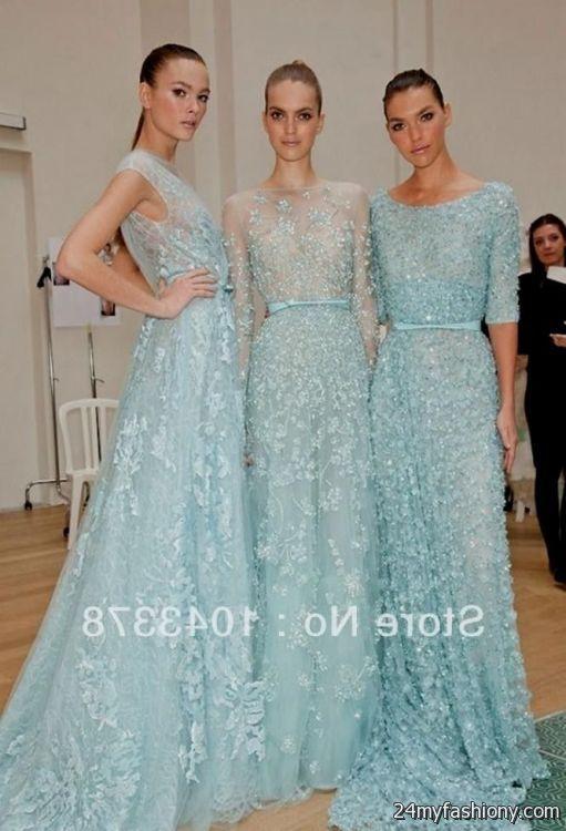 light blue long sleeve lace dress 2016-2017 | B2B Fashion