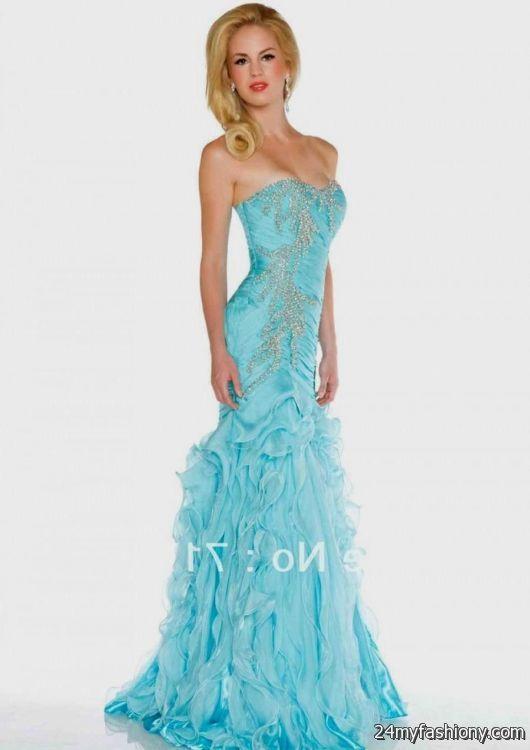 light blue mermaid prom dress 2016-2017 | B2B Fashion