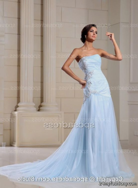 2018 Blue Wedding Dress