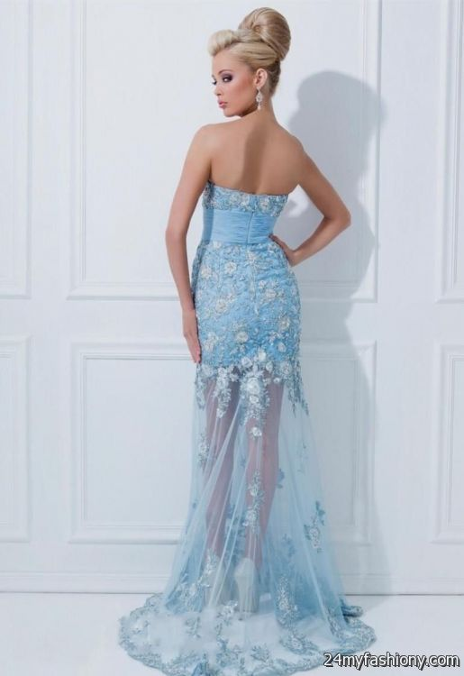 You Can Share These Light Blue Mermaid Wedding Dresses On Facebook Stumble Upon My E Linked