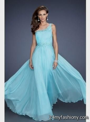 light blue prom dress one shoulder 2016-2017 » B2B Fashion