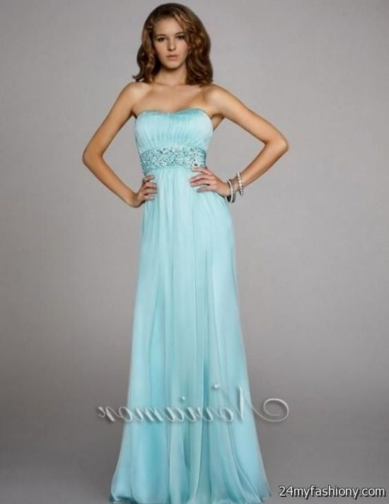 light blue strapless prom dress 2016-2017 | B2B Fashion
