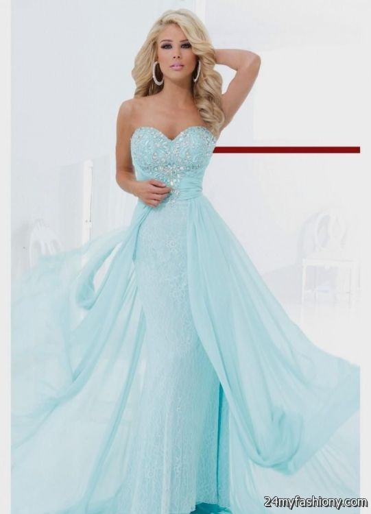 light blue strapless prom dress 2016-2017 | B2B Fashion