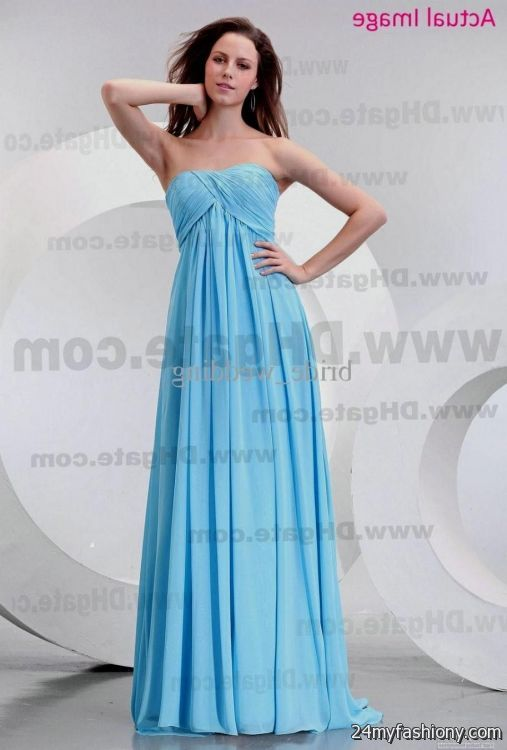 Light blue wedding dress beach 2016 2017 b2b fashion for Blue beach wedding dresses