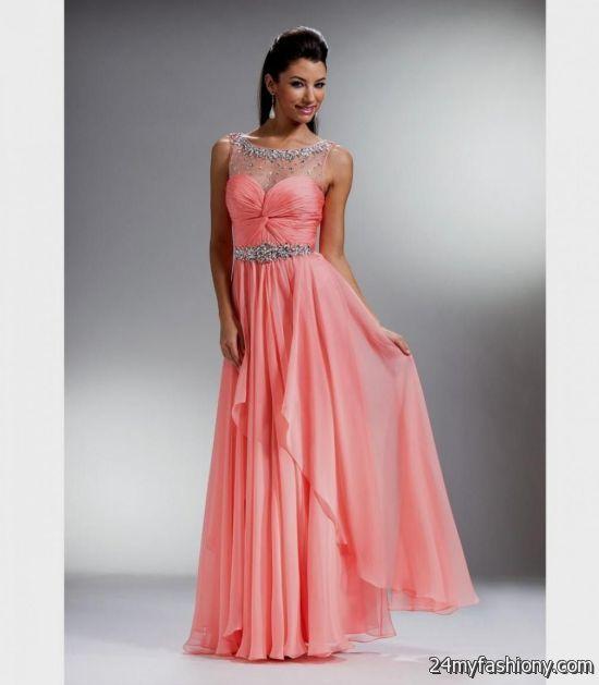 light coral prom dress 20162017 b2b fashion