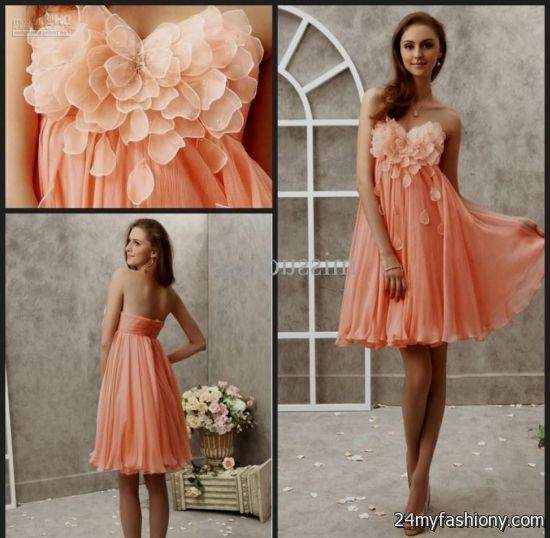 You Can Share These Light Orange Bridesmaid Dress On Facebook Stumble Upon My E Linked In Google Plus Twitter And All Social Networking Sites