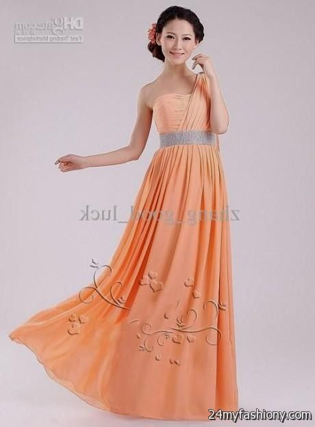 Light Orange Bridesmaid Dress 2016 2017 B2b Fashion