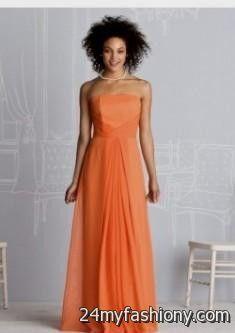 light orange bridesmaid dress 20162017 b2b fashion