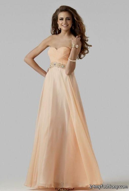 light peach dresses 2016-2017 » B2B Fashion