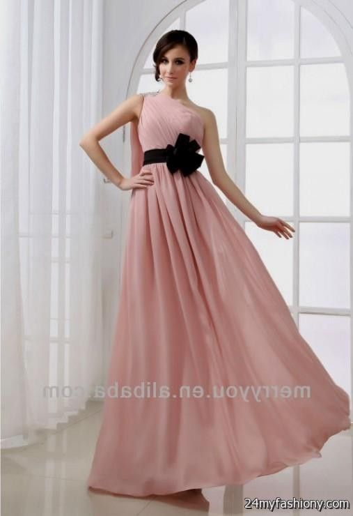 light pink and black bridesmaid dresses 20162017 b2b