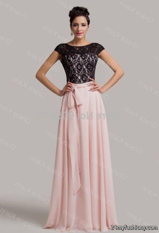 Light Pink And Black Prom Dresses 2016 2017 B2b Fashion