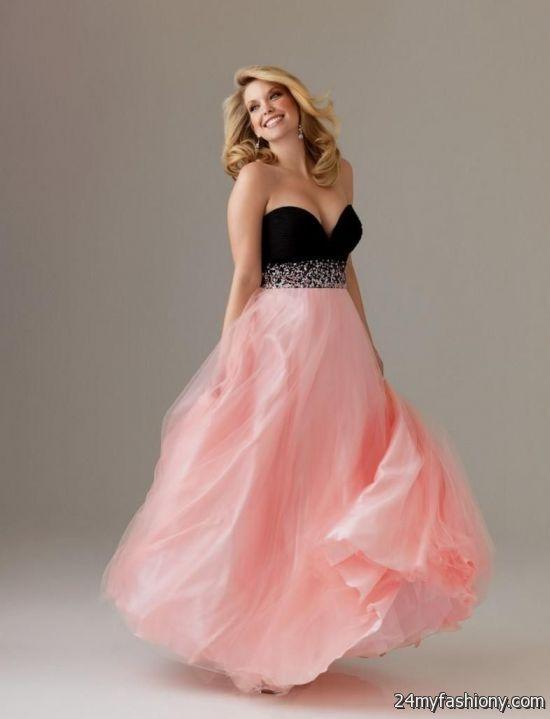 Light Pink And Black Prom Dresses Looks B2b Fashion