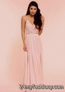 Light Pink And Gold Maxi Dress - Missy Dress