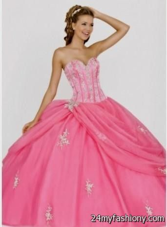cd4e1d6c424 You can share these light pink and silver quinceanera dresses on Facebook