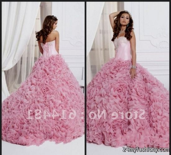 d90b3187647 You can share these light pink and white quinceanera dresses on Facebook
