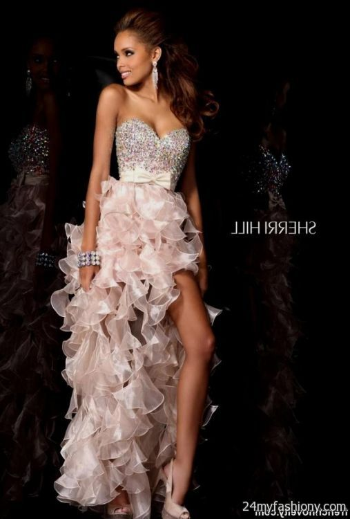 light pink high low prom dresses 2016-2017 | B2B Fashion