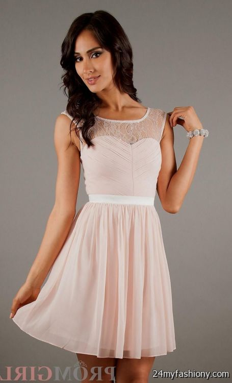 light pink homecoming dresses with sleeves 2016-2017 » B2B Fashion