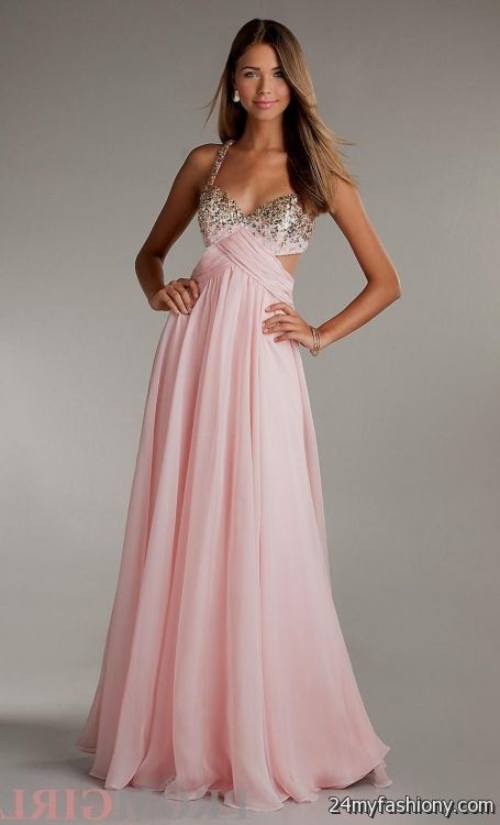 light pink prom dress with straps 2016-2017 » B2B Fashion