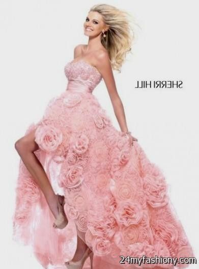 light pink prom dresses high low 2016-2017 | B2B Fashion