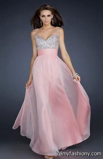 pink prom dress with straps