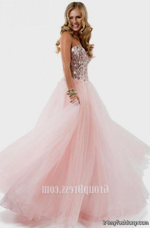Light Pink Sequin Prom Dress 2016 2017 B2B Fashion