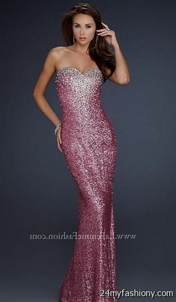 Collection Pink Sequin Prom Dresses Pictures - Lotki