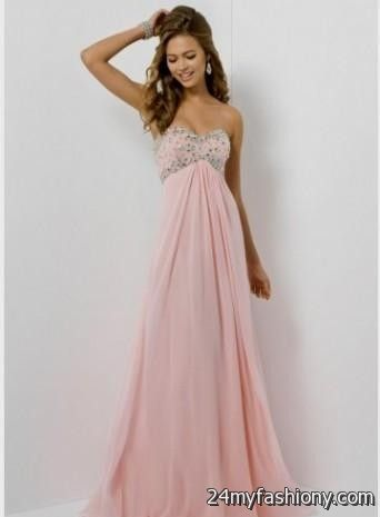 Pink Strapless Prom Dresses