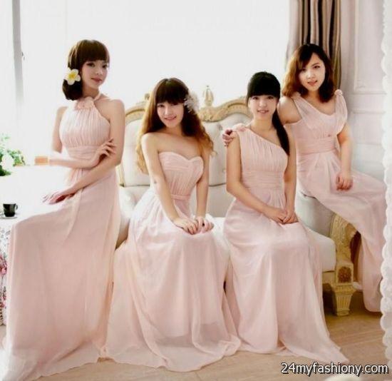 Light pink wedding dresses simple flower girl dresses for Simple pink wedding dress